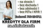 NAJLEPSZA oferta KREDYTU dla FIRM na OŚWIADCZENIE! 50 000 zł bez PITu i KPiR!